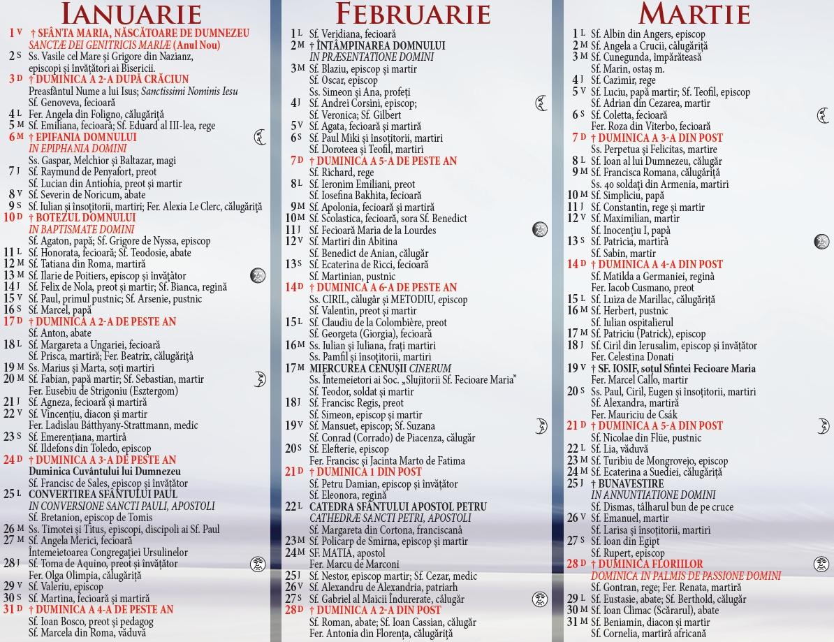 Calendar tuns mai 2020